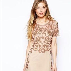 ASOS Baroque Embellished Shift Dress